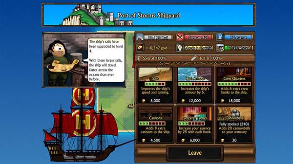 Swords and Sandals Pirates Screenshot